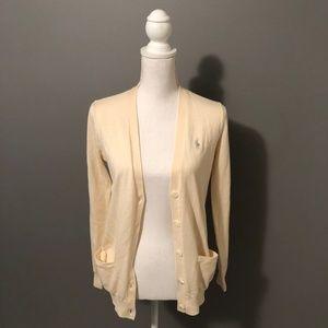 Ralph Lauren Long, Button-Down Pocketed Cardigan